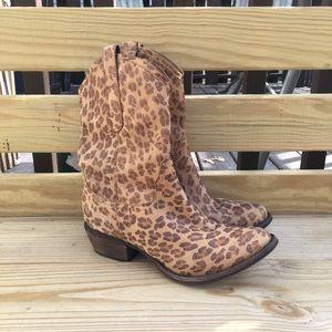 donald j pliner leopard print cowboy boots 7